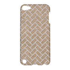 Brick2 White Marble & Sand Apple Ipod Touch 5 Hardshell Case by trendistuff