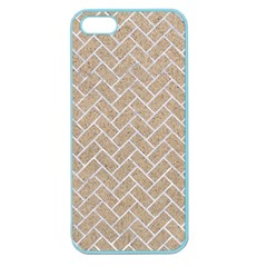 Brick2 White Marble & Sand Apple Seamless Iphone 5 Case (color) by trendistuff