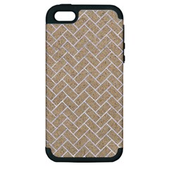 Brick2 White Marble & Sand Apple Iphone 5 Hardshell Case (pc+silicone) by trendistuff