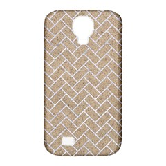 Brick2 White Marble & Sand Samsung Galaxy S4 Classic Hardshell Case (pc+silicone) by trendistuff