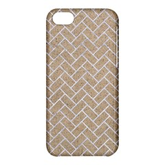 Brick2 White Marble & Sand Apple Iphone 5c Hardshell Case by trendistuff