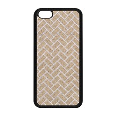 Brick2 White Marble & Sand Apple Iphone 5c Seamless Case (black) by trendistuff