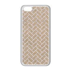 Brick2 White Marble & Sand Apple Iphone 5c Seamless Case (white) by trendistuff