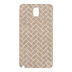 Brick2 White Marble & Sand Samsung Galaxy Note 3 N9005 Hardshell Back Case by trendistuff