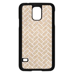 Brick2 White Marble & Sand Samsung Galaxy S5 Case (black)