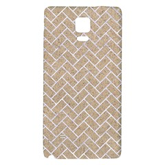 Brick2 White Marble & Sand Galaxy Note 4 Back Case by trendistuff