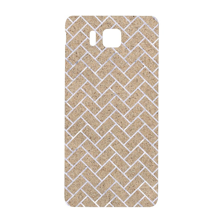 BRICK2 WHITE MARBLE & SAND Samsung Galaxy Alpha Hardshell Back Case