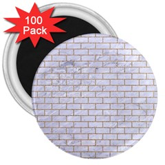 Brick1 White Marble & Sand (r) 3  Magnets (100 Pack) by trendistuff