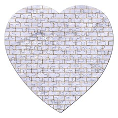 Brick1 White Marble & Sand (r) Jigsaw Puzzle (heart) by trendistuff