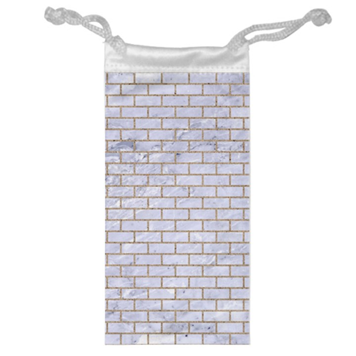 BRICK1 WHITE MARBLE & SAND (R) Jewelry Bag