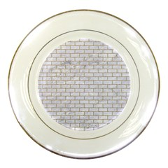 Brick1 White Marble & Sand (r) Porcelain Plates by trendistuff
