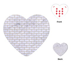 Brick1 White Marble & Sand (r) Playing Cards (heart)  by trendistuff