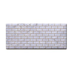 Brick1 White Marble & Sand (r) Cosmetic Storage Cases