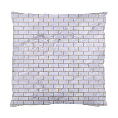 Brick1 White Marble & Sand (r) Standard Cushion Case (one Side)