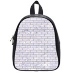 BRICK1 WHITE MARBLE & SAND (R) School Bag (Small) Front