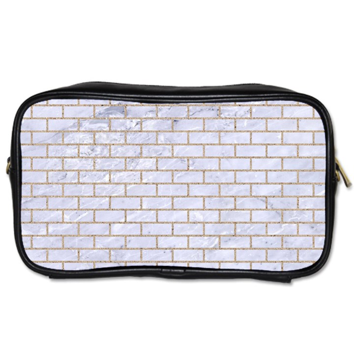 BRICK1 WHITE MARBLE & SAND (R) Toiletries Bags 2-Side