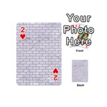 BRICK1 WHITE MARBLE & SAND (R) Playing Cards 54 (Mini)  Front - Heart2