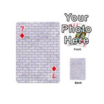 BRICK1 WHITE MARBLE & SAND (R) Playing Cards 54 (Mini)  Front - Diamond7