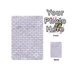 BRICK1 WHITE MARBLE & SAND (R) Playing Cards 54 (Mini)  Back