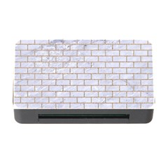 Brick1 White Marble & Sand (r) Memory Card Reader With Cf by trendistuff