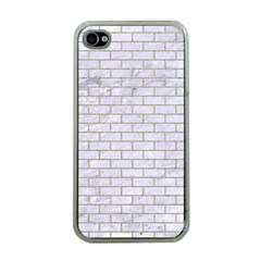 Brick1 White Marble & Sand (r) Apple Iphone 4 Case (clear) by trendistuff