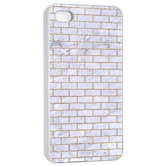 Brick1 White Marble & Sand (r) Apple Iphone 4/4s Seamless Case (white) by trendistuff