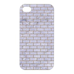 Brick1 White Marble & Sand (r) Apple Iphone 4/4s Hardshell Case by trendistuff
