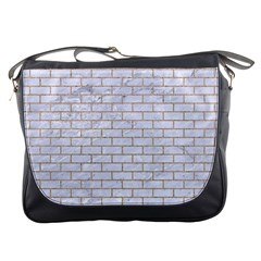Brick1 White Marble & Sand (r) Messenger Bags by trendistuff