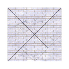 Brick1 White Marble & Sand (r) Acrylic Tangram Puzzle (6  X 6 ) by trendistuff