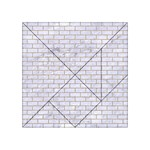BRICK1 WHITE MARBLE & SAND (R) Acrylic Tangram Puzzle (4  x 4 ) Front