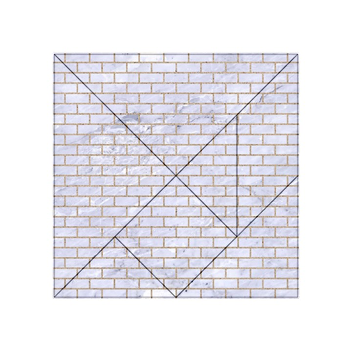 BRICK1 WHITE MARBLE & SAND (R) Acrylic Tangram Puzzle (4  x 4 )