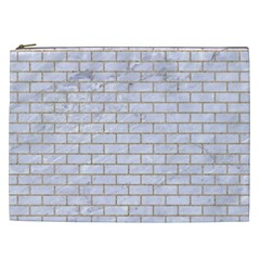 Brick1 White Marble & Sand (r) Cosmetic Bag (xxl)
