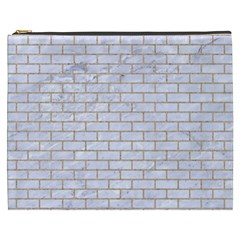 Brick1 White Marble & Sand (r) Cosmetic Bag (xxxl)  by trendistuff
