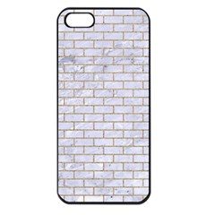 Brick1 White Marble & Sand (r) Apple Iphone 5 Seamless Case (black) by trendistuff