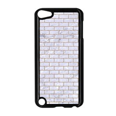 Brick1 White Marble & Sand (r) Apple Ipod Touch 5 Case (black)