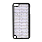 BRICK1 WHITE MARBLE & SAND (R) Apple iPod Touch 5 Case (Black) Front