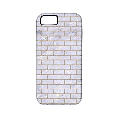 Brick1 White Marble & Sand (r) Apple Iphone 5 Classic Hardshell Case (pc+silicone) by trendistuff