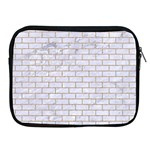 BRICK1 WHITE MARBLE & SAND (R) Apple iPad 2/3/4 Zipper Cases Front