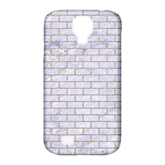 Brick1 White Marble & Sand (r) Samsung Galaxy S4 Classic Hardshell Case (pc+silicone) by trendistuff