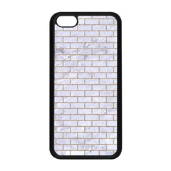 Brick1 White Marble & Sand (r) Apple Iphone 5c Seamless Case (black) by trendistuff