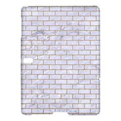 Brick1 White Marble & Sand (r) Samsung Galaxy Tab S (10 5 ) Hardshell Case