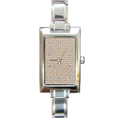 Brick1 White Marble & Sand Rectangle Italian Charm Watch by trendistuff