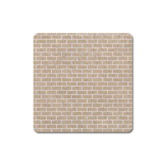 Brick1 White Marble & Sand Square Magnet by trendistuff