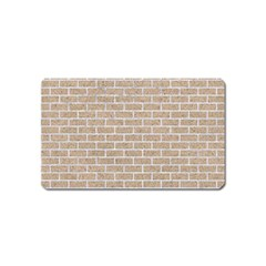 Brick1 White Marble & Sand Magnet (name Card) by trendistuff