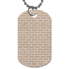 Brick1 White Marble & Sand Dog Tag (one Side) by trendistuff