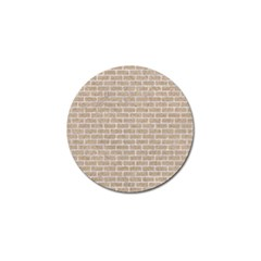 Brick1 White Marble & Sand Golf Ball Marker (4 Pack) by trendistuff