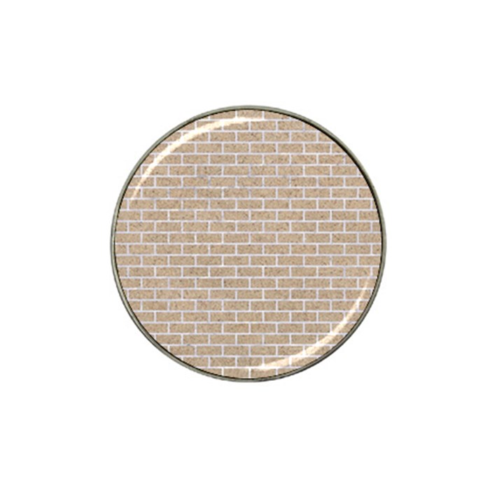 BRICK1 WHITE MARBLE & SAND Hat Clip Ball Marker (10 pack)