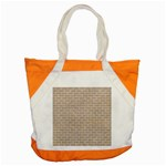 BRICK1 WHITE MARBLE & SAND Accent Tote Bag Front
