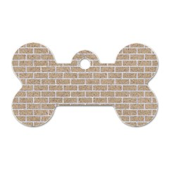 Brick1 White Marble & Sand Dog Tag Bone (two Sides)