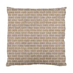 BRICK1 WHITE MARBLE & SAND Standard Cushion Case (Two Sides) Back